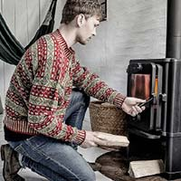 Fair Isle Sweater (Red-turquoise-straw)