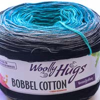 Woolly Hugs Bobbel Cotton 06 Tiefsee (grau-türkis)