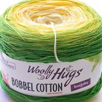 Woolly Hugs Bobbel Cotton 07 Sommerwiese (grün-gelb)